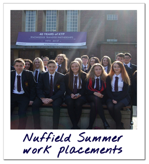 Nuffield Summer work placements