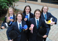Pictured Left to Right : Caitlin (Year.9), Louise , (Year 9), Lucy (Year. 10), Chelsea (Year. 9) and Jordana (Year.10).