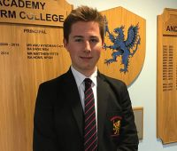 Congratulations and good luck to Sixth Former, Patrick