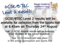 GCSE/BTEC Level 2 results.