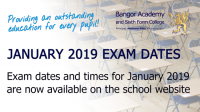 January GCSE exam dates