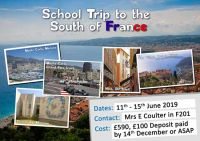 School trip to the south of France 2019