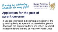 Applications for the post of parent governor