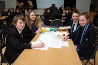 Year 9 pupils from Bangor Academy and St. Columbanus' shared a lesson on the Plantation