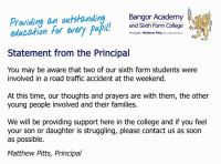 Statement from the Principal
