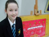 Gracie's artistic talent recognised at the Waterfront Hall.